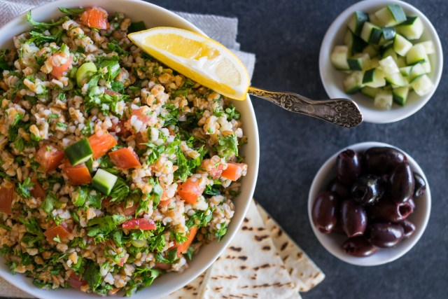 fresh, delicious tabbouleh salad