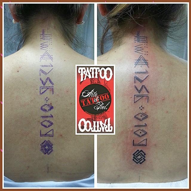 Numeros Maya Espalda Tattoo Tatuaje Artistico Tatto Flickr