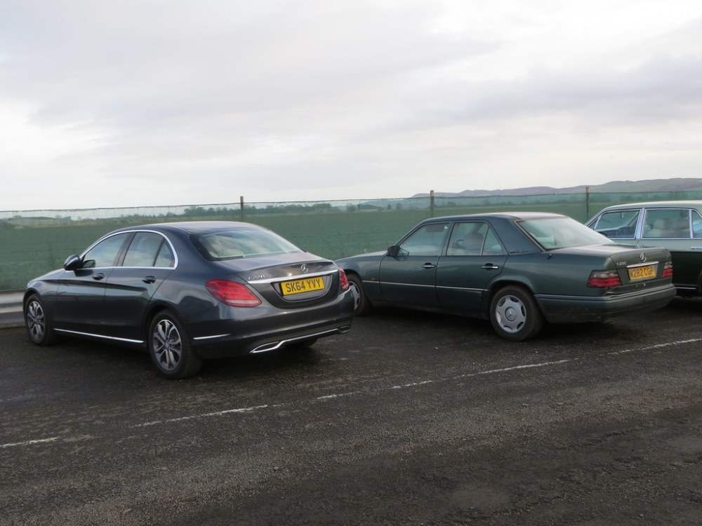medium resolution of  2014 mercedes benz c220 and 1995 e280 by goldscotland71