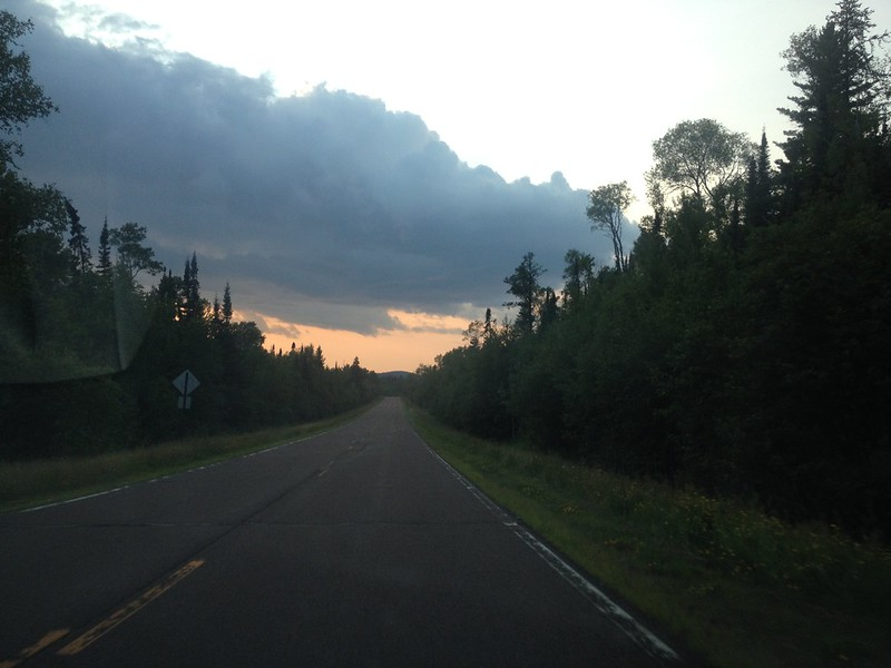 Heading west on the Gunflint Trail