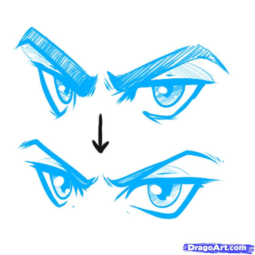anime eyes angry male