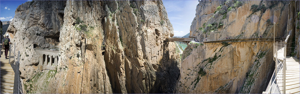 Caminito del Rey (The little Path of the king) El Chorro. Malaga