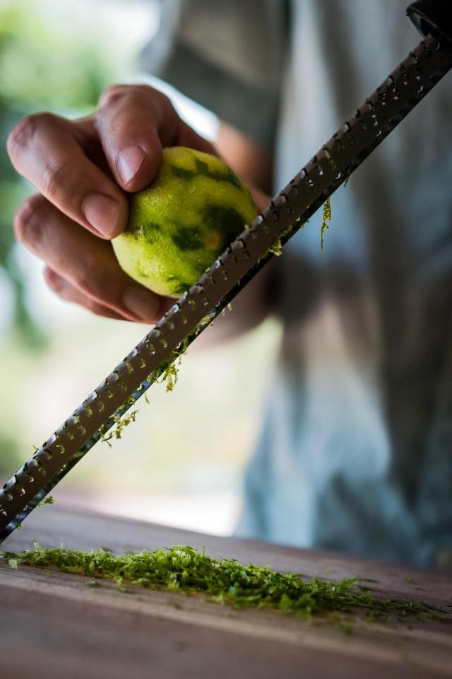 freshly zested lime