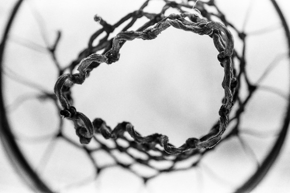 Underside of basketball net (2015)