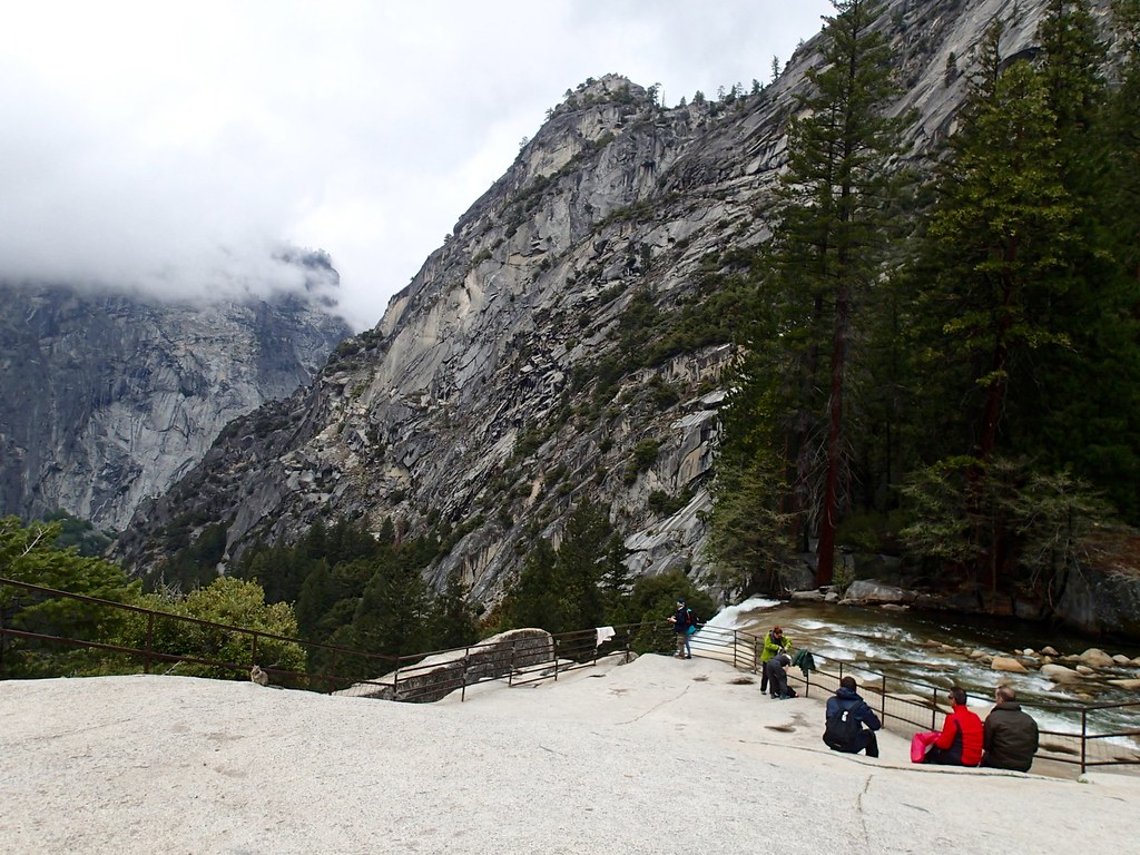 Lunch break at the top of Vernal Falls