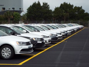 First shipment of Volkswagens arrive at Blount Island