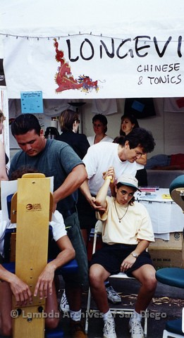 1995 - San Diego LGBT Pride Festival: Longevity Holistic Medicine Booth.
