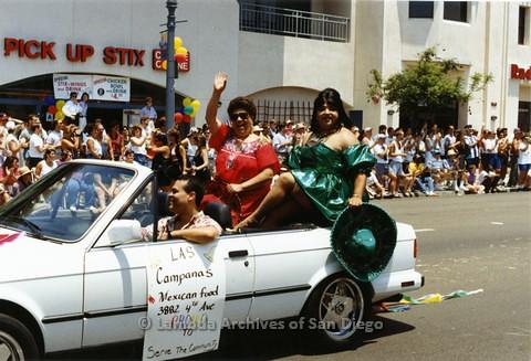 1994 - San Diego LGBT Pride Parade: Contingent - 'Las Campanas'.