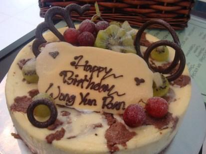 hazelnut birthday cheesecake