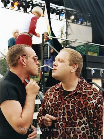 1995 - San Diego LGBT Pride Festival. Entertainment Main Stage Area.