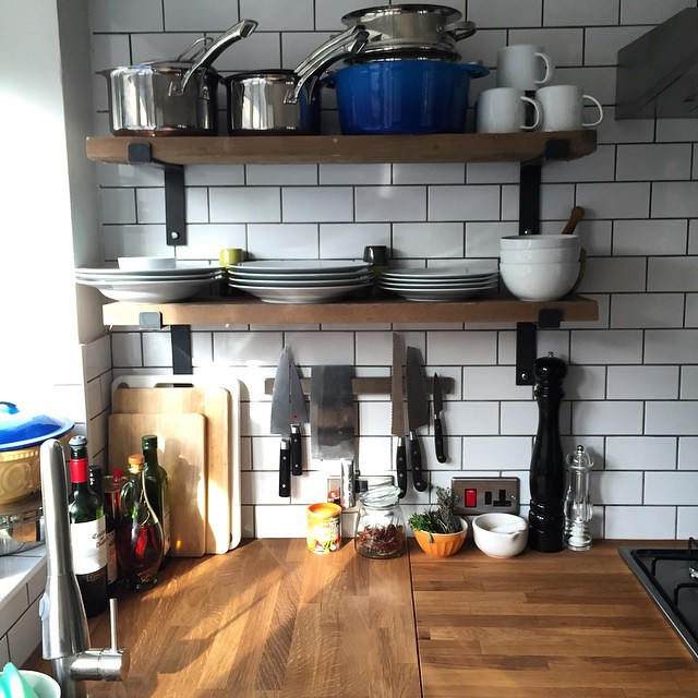 new kitchen with reclaimed