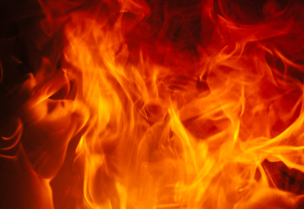 burning fire background texture