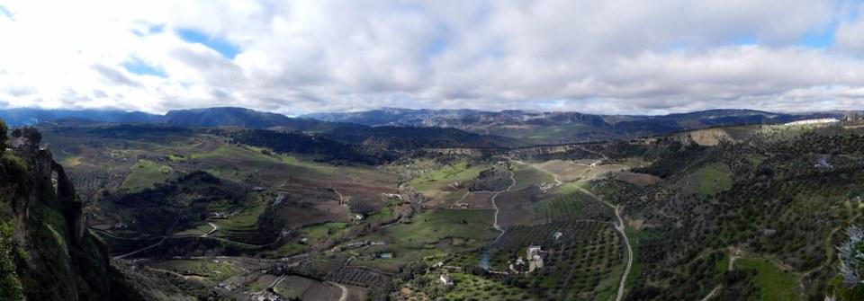 vista serrania de Ronda desde el Hotel Reina Victoria Ronda Malaga 03