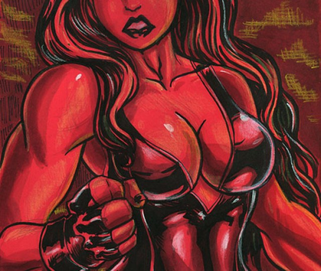 Sexy Red She Hulk Girl Gerald Rivera Flickr