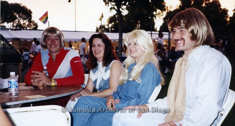 1995 - San Diego LGBT Pride Festival. Food Court Area.