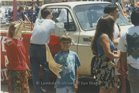 1995 - San Diego LGBT Pride Parade: Tear Down Area After the Parade.