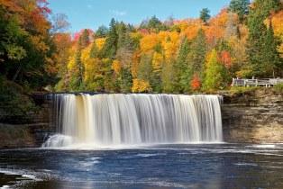 tahquamenon falls, luce county, michigan
