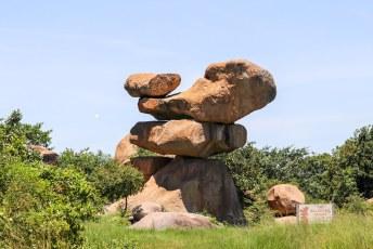 De missie was dus al geslaagd, dus onze dag kon niet meer stuk toen we ook nog oog in oog met de enige echte Balancing Rocks kwamen te staan.