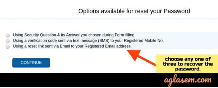 Steps to Retrieve the NCHM JEE Password