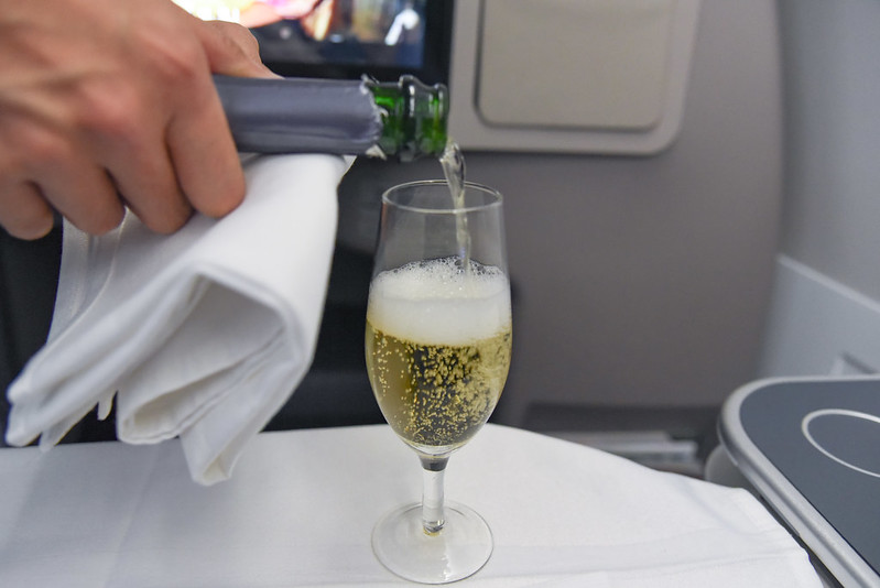 charles heidsieck champagne on PAL's business class