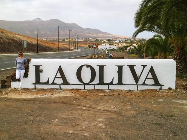 Entrada a La Oliva en Fuerteventura