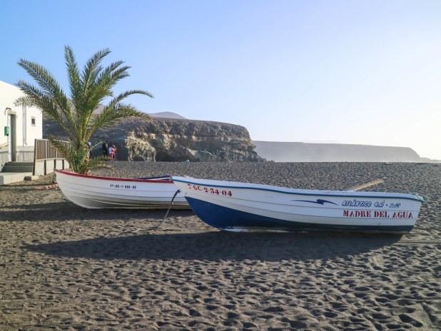 Barcas de pescadores en Fuerteventura