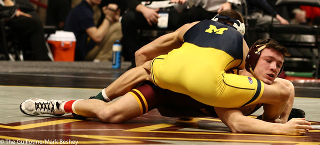 Cons. Semi - Mitch McKee (Minnesota) 20-5 won by decision over Kanen Storr (Michigan) 24-6 (Dec 12-6) - 190310cmk0031