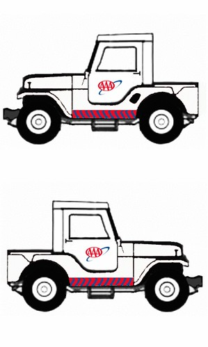 1965 Jeep CJ5 half cab utility, AAA service truck (1998 AA