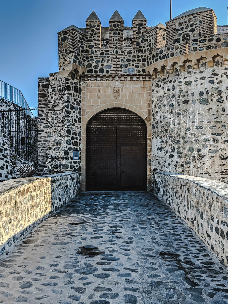 The entrance to the castle in Almunecar