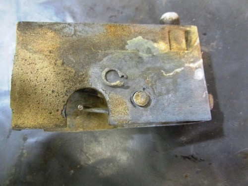 Seat Latch Lever Pivot Pin C-Clip Detail