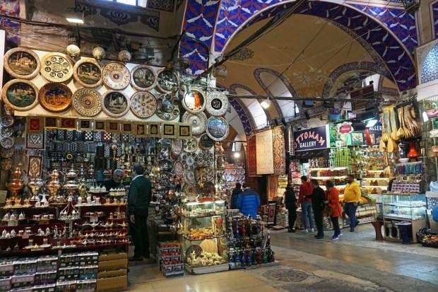 Walking around the Grand Bazaar