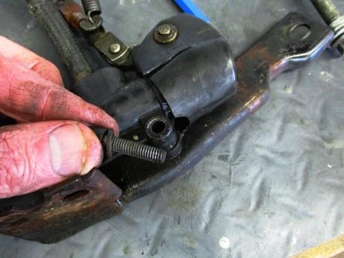 Rear Master Cylinder Bracket Bolt Detail