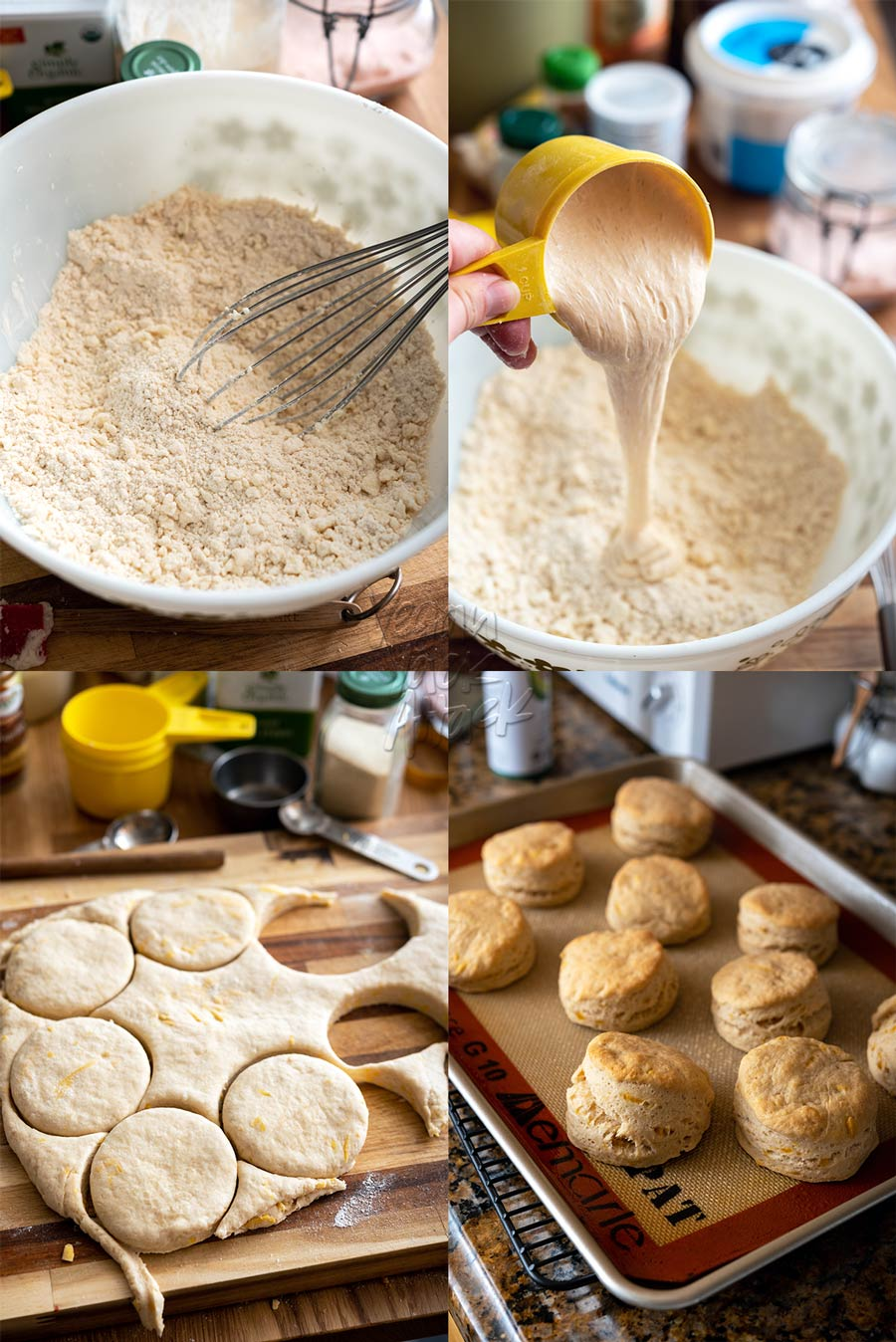 Making vegan sourdough biscuits