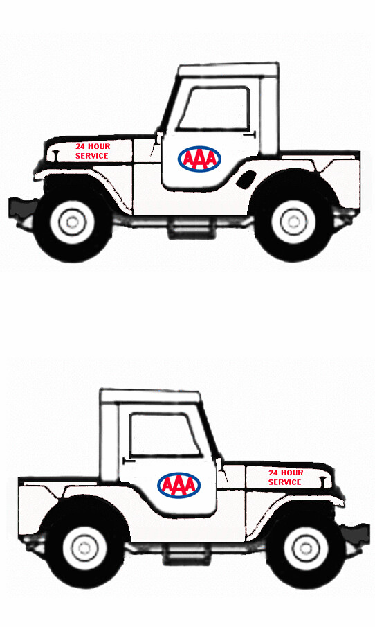 1965 Jeep CJ5 half cab utility, AAA service truck (1960s