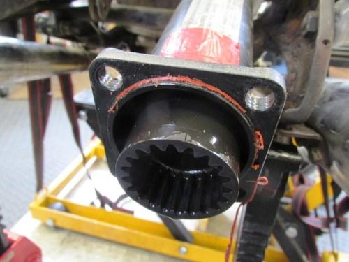 Drive Shaft Rear Coupling Detail