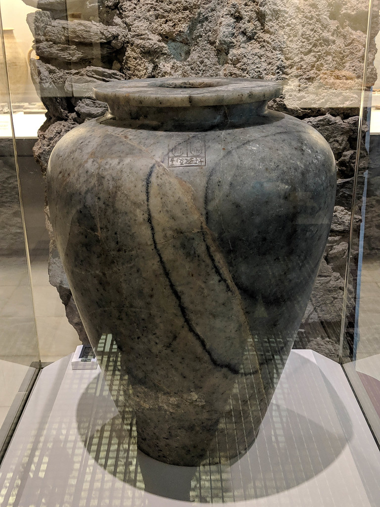 an Egyptian amphora which dates back to around 1500BC in Almunecar's Archaeological Museum