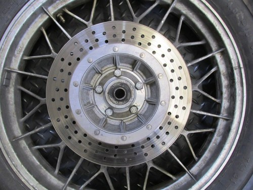 Rear Wheel Disk Rotor Detail
