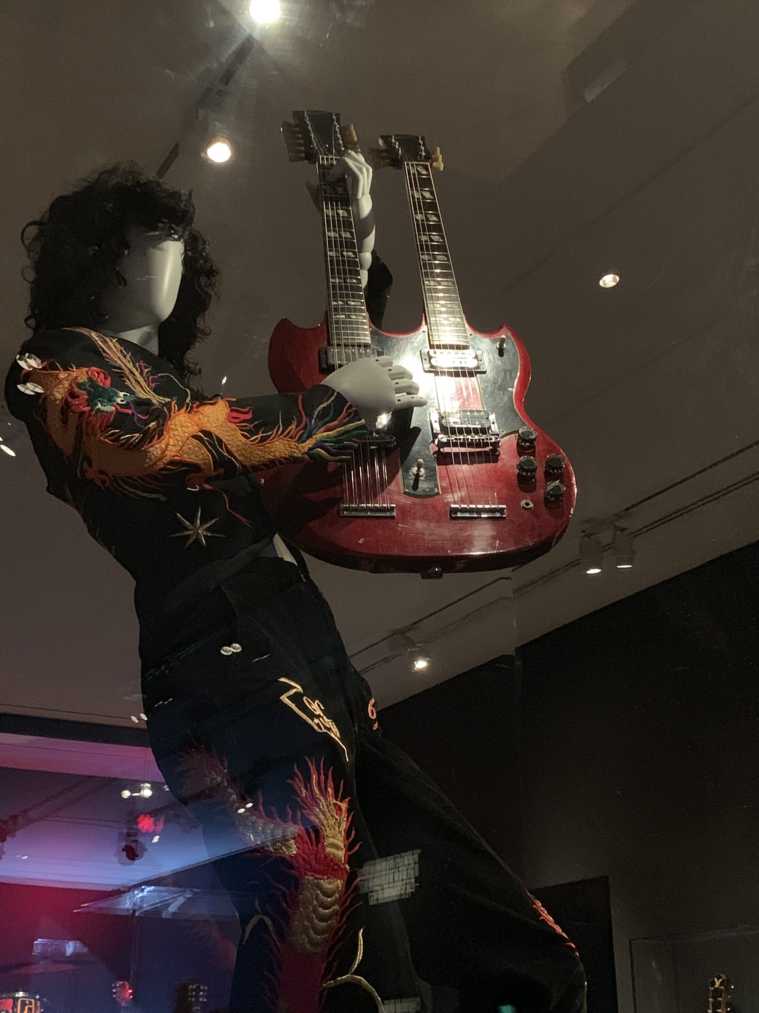 Jimmy Page Dragon Suit and  Gibson Double Neck