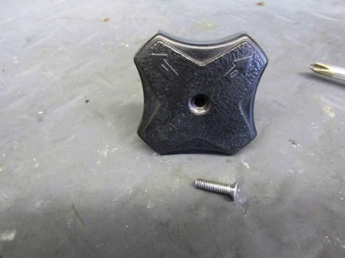 Front Steering Damper Knob Detail-Numbers Indicate Degree of Damping