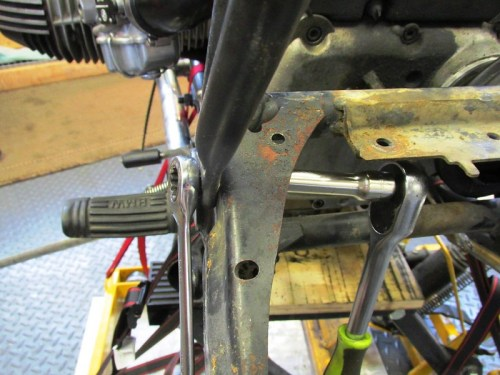 Remove Lower Rear Sub-frame Bolt