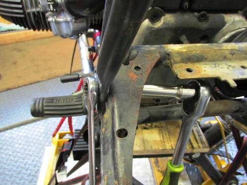 Remove Lower Rear Sub-frame Bolt