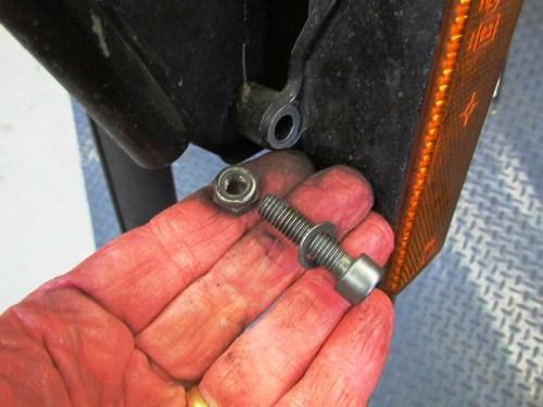 Fork Brace Mounting Hardware Detail