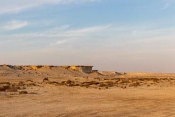 We wilden de woestijn in, we moesten wel opschieten we hadden geen 4x4 en het begon al te schemeren.