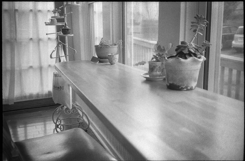 interior, counter, tea room Alchemy, Asheville, NC, Rollei Prego 140, Arista.Edu 400, Ilford Ilfosol 3 Developer, 3.20.18