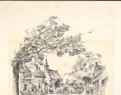Markenbinnen - Tekening van dorp