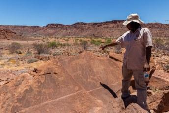 De plaats werd pas echt beroemd toen deze rotstekeningen werden ontdekt.