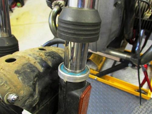 Fork Dust Cap Pulled Off Fork Slider