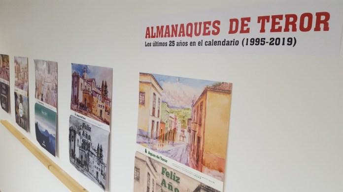 La Galería de las Oficinas municipales muestra los 25 años de los 'Almanaques de Teror'