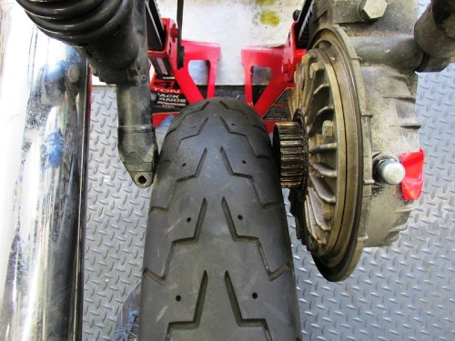 Rear Tire Slides Past Rear Drive Splines