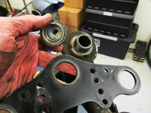 Steering Stem Cap Nut and Top Plate Removed